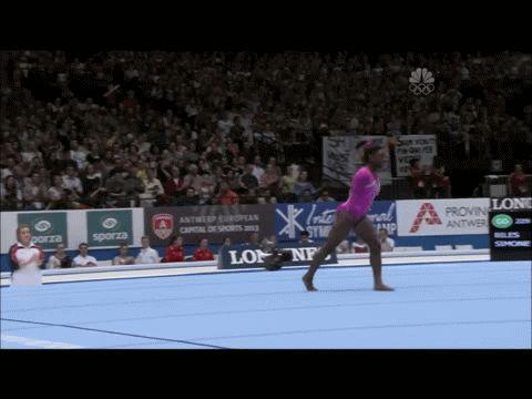Simone Biles gif. 2013 World Championships All-Around Floor #gymnastics #gold