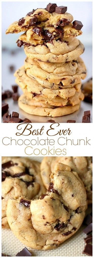 Best Ever Chocolate Chunk Cookies - thick, chewy, and easy to make!!!