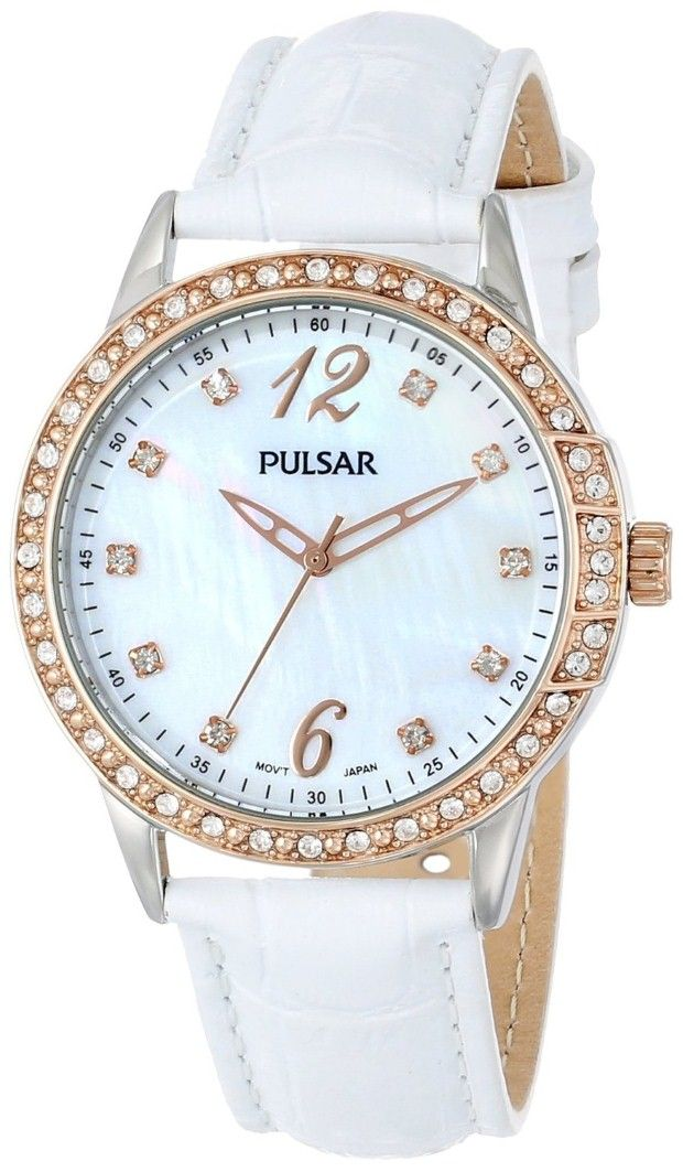 women's watches | Best white watches for women Pulsar Women's PH8050 Analog Display Japanese Quartz White Watch