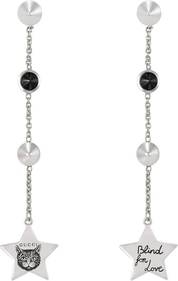 b24de3c7b Gucci Blind for Love earrings in silver   styling   Earrings ...