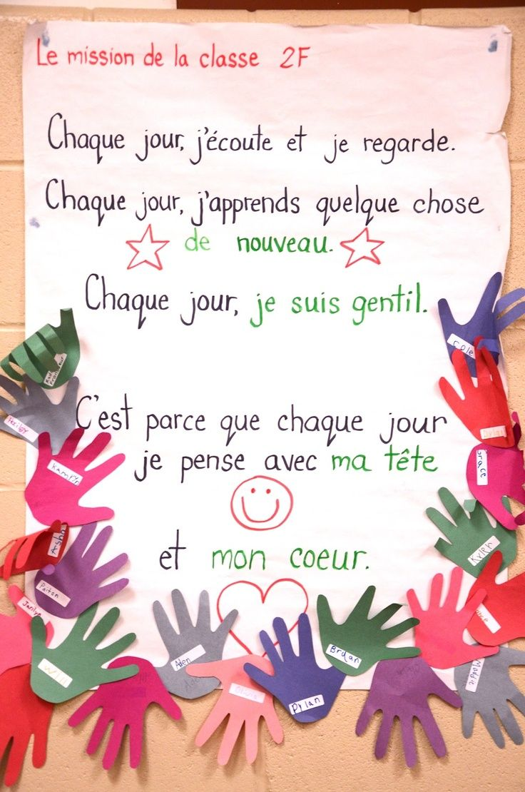 Madame Belle Feuille: Classroom Mission Statements. Lots of examples in English and French. Not just a list of 'do not...' rules, but positive statements about our class environment.