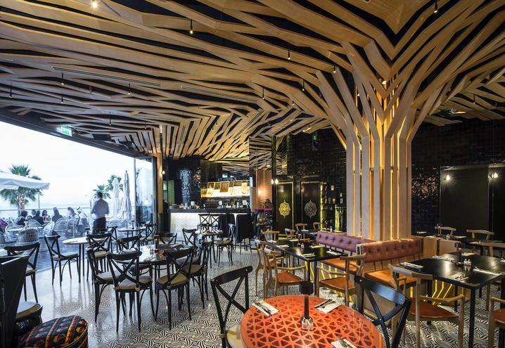 The interior decoration of restaurant almaz by momo
