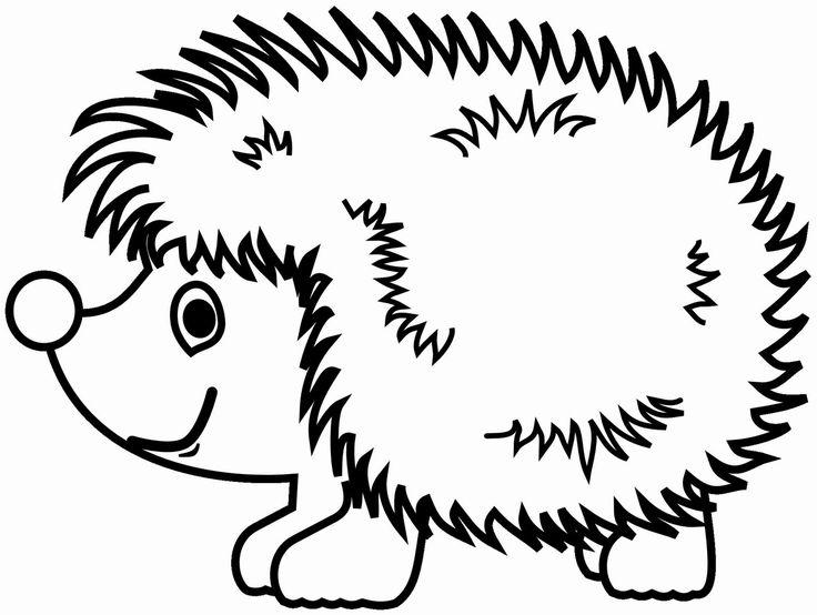 Omalovánka ježek k vytisknutí na A4