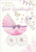 Birth of Great-Granddaughter - Pink Pram