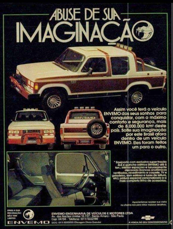 Chevrolet D 20 Custom Envemo 1987 Historical Advertisements Old Propagandas Chevrolet Classic Cars Retro Cars