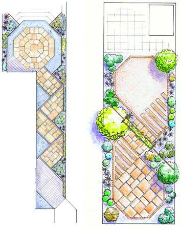 long narrow garden plan