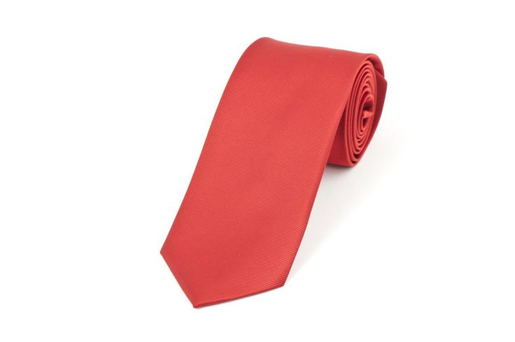 Red Self Stripe Necktie