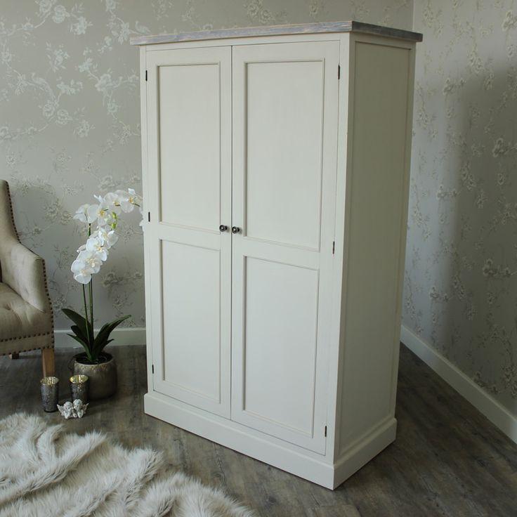 Large Grey Wardrobe Linen Closet Storage - Cotswold Range  A large wardrobe linen closet storage cupboard in a mushroom grey colour £440