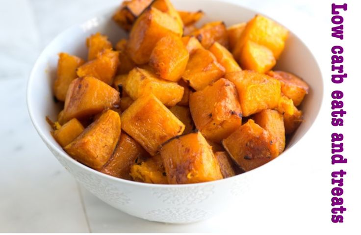 ROASTED PUMPKIN: 1+1/2 kg pumpkin cut into cubes Salt and pepper 2 tablespoons xylitol 1/2 teaspoon cinnamon A few tablespoons olive oil to drizzle over pumpkin.  METHOD: Preheat oven to 200c. Line two large cookie/oven trays with foil. Place pumpkin cubes in a dish and season with salt, pepper, xylitol and cinnamon. Add olive oil and toss until all the cubes are coated. Spread in a single layer in the two trays and roast for 30-45 minutes, until tender and caramelized.