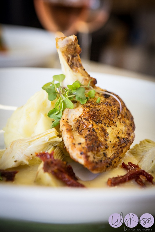 Our Famous Airline-Cut Chicken Breast at Willowstone Catering #wedding #catering #entree #platedmeal