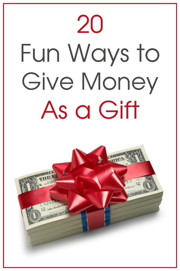 Here are some clever ways to give money as a gift, that would work for graduates, for birthdays, holidays, and more!