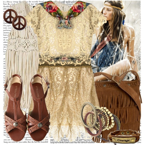 hippie fashion. Detailed and feminine.Too old to wear it now...maybe I can be a hippie in heaven! LOL