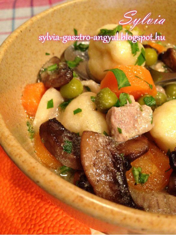 Sylvia Gasztro Angyal: Nyírségi gombóc leves