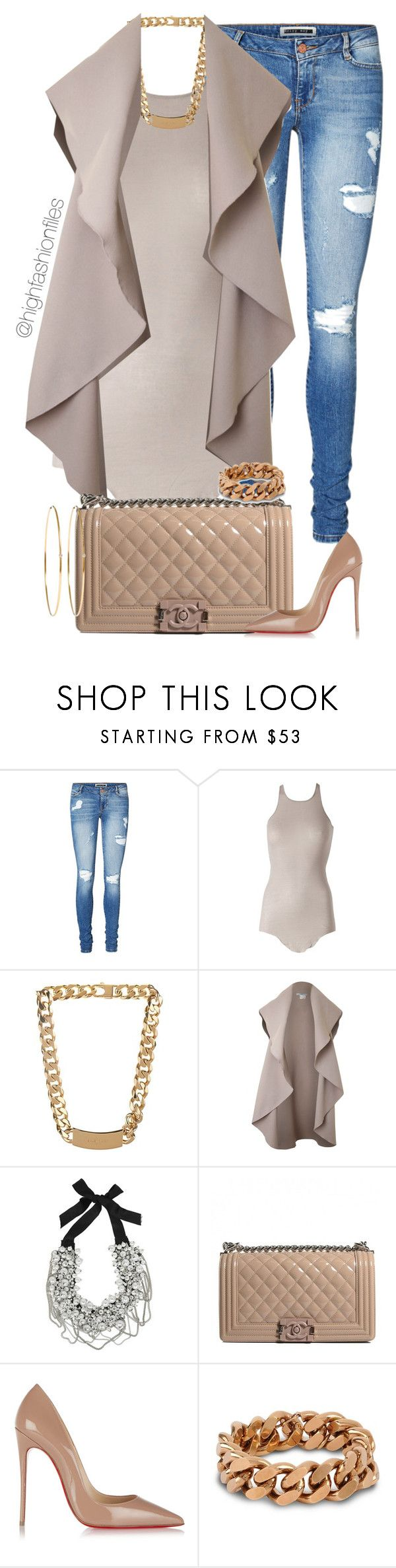 """Casual Conversation"" by highfashionfiles ❤ liked on Polyvore featuring Vero Moda, Rick Owens, Balenciaga, Oscar de la Renta, Chanel, Christian Louboutin, STELLA McCARTNEY and Jennifer Meyer Jewelry"