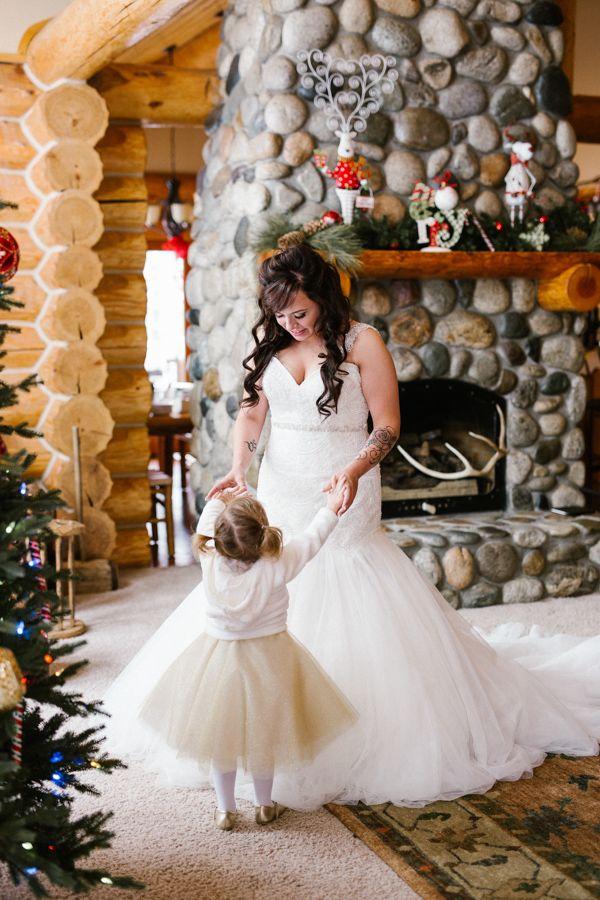 Snowy Winter Wonderland Wedding In Leavenworth