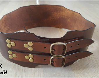 Barocke Leder Gürtel - Damen Gürtel Cosplay - Steampunk Victorian Fantasy - Vintage Gürtel - breitem Gürtel