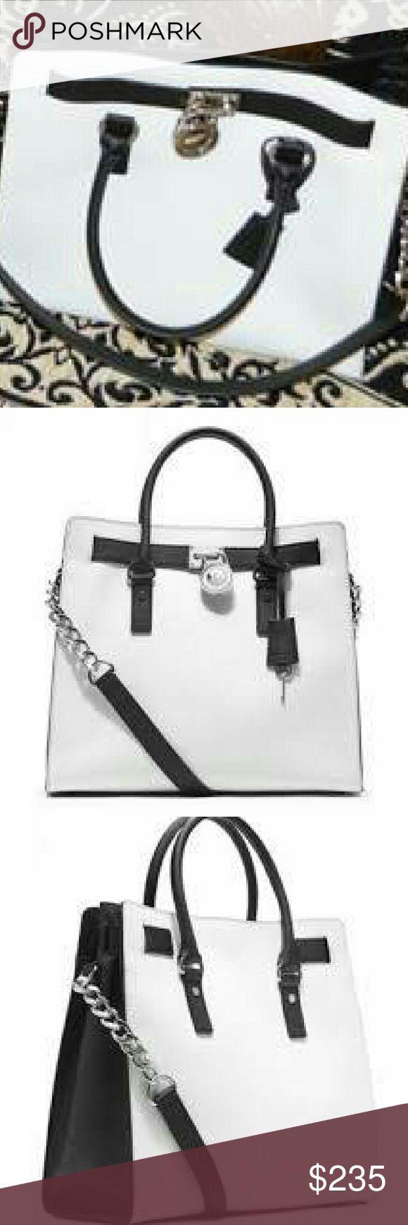 Michael Kors Hamilton Bag Large black and white Michael Kors Hamilton Bag Michael Kors Bags Shoulder Bags