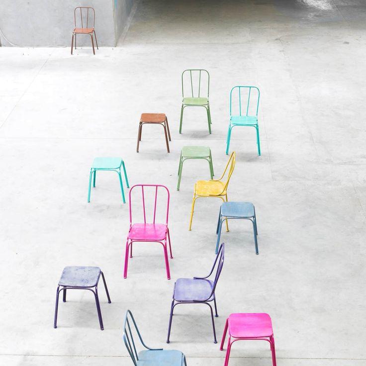 Krzesło metalowe DOWNTOWN