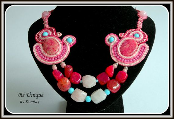 SOUTACHE necklace FREE SHIPPING by BeUniqueGallery on Etsy