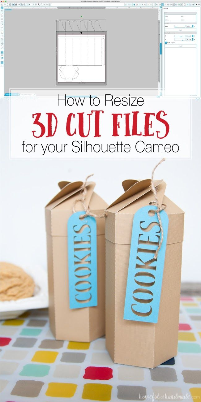 Tips for Resizing Silhouette Studio 3D Cut Files