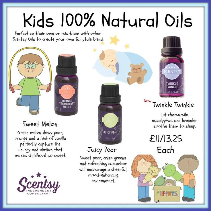 kids range of 100% natural oils designed for use in the scentsy diffuser