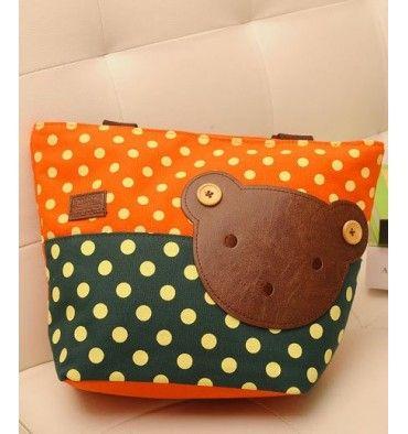 Momoailey Shoulder Bag - Green Orange