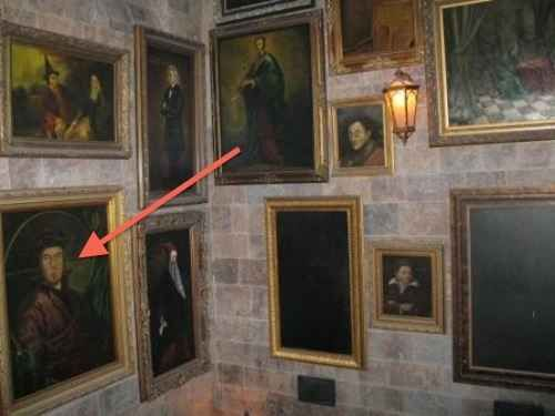 Many of the portraits in Hogwarts were based on cast and crew. For example, this is production designer Stuart Craig.