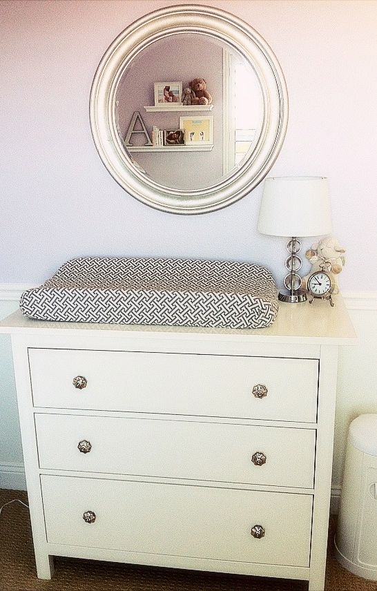 how to keep changing pad on dresser