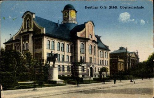 Ak-Bytom-Beuthen-Schlesien-Ansicht-der-Oberrealschule-1156805