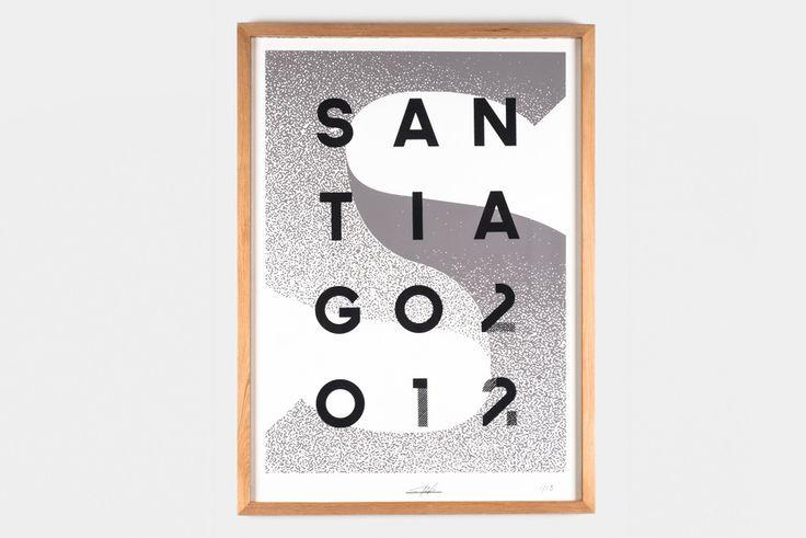 Silkscreen – SANTIAGO 2012 - Sebastián Rodríguez