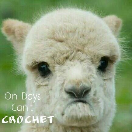 What I look like days I can't crochet ... =(