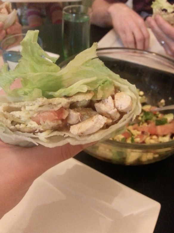 I for Iceberg lettuce-wrapped Inside-out burritos