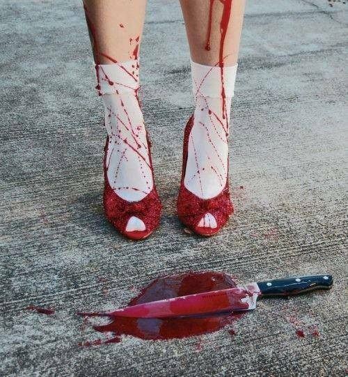 """She clicked her heels together three times and with a dark laughter said """"There is no one place like the afterlife."""""""