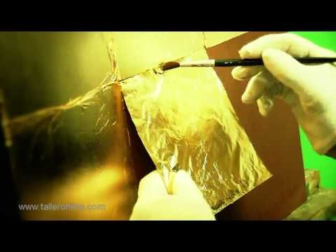 Pan de oro. Dorado de una tabla HD