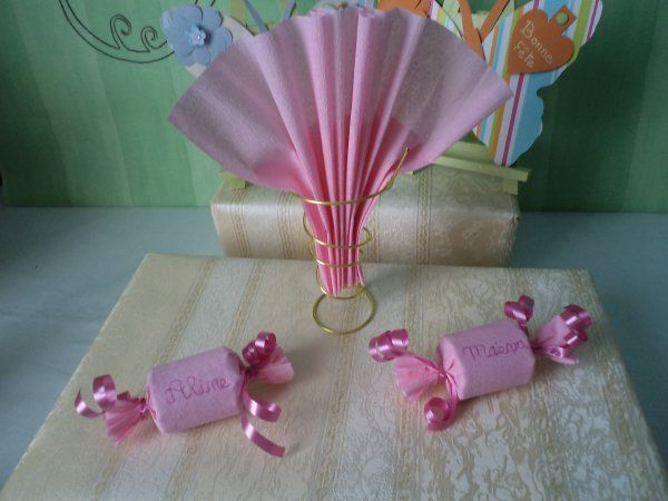 Suite de la d coration de table th me rose bonbons for Bonbon la table ronde