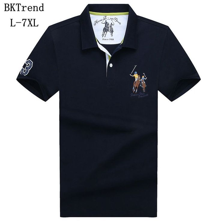 Bktrend nuevo 2017 marca polo camisa de algodón para hombres de moda horse impreso camisa de polo del verano de manga corta camisas casuales más tamaño l 7xl en Polo de Ropa y Accesorios en AliExpress.com | Alibaba Group