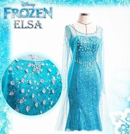Disney Frozen Elsa Dress Movie Costume Cosplay Any Size Kids Or Adult on Etsy, $130.00