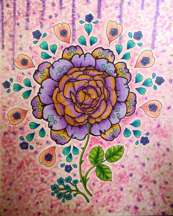 """98 To se mi líbí, 11 komentářů – °Rimea° Czech republik (@coloring.rimea) na Instagramu: """"#blomstermandala #blomstermandalamålarbok #twilightgarden #rose  #marcoraffinepencils #marcoraffine"""""""