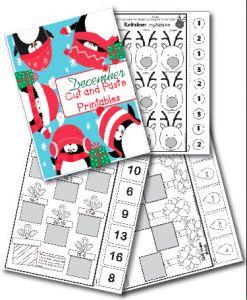 December Cut and Paste Printables! Freebie