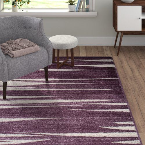 Home Haus Barite Dark Lilac Area Rug Purple Area Rugs Rugs