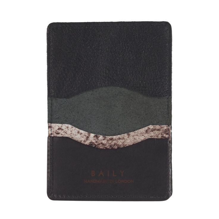 Sarah Baily | Travel card wallet - Black / snake leather