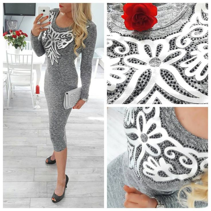 Elegancka sweterkowa sukienka 3/4 na pierwsze wiosenne słoneczne dni, rozmiar S/M/L, 99zł 😍 Pytania oraz zamówienia prosimy składać na priv. Zapraszamy 😍