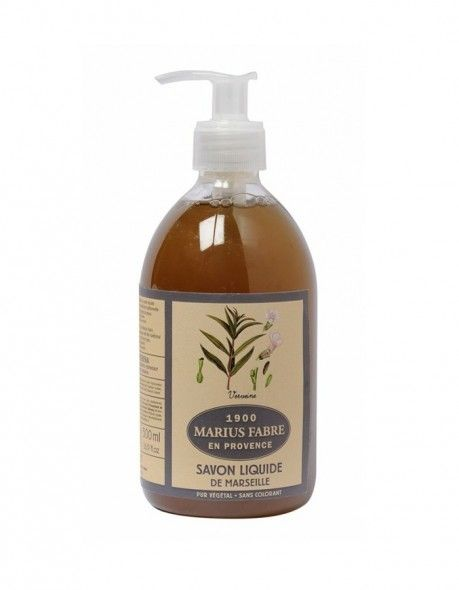 Fabriqué à base d' huile d'olive , reconnue pour ses vertus nourrissantes, et d' huile de coprah , appréciée pour ses propriétés moussantes, notre savon liquide parfumé à la  Verveine  est cuit au chaudron, selon la méthode traditionnelle marseillaise.    Très pratique pour se laver les mains et très doux pour la peau, il s'utilise également au quotidien pour la toilette du corps et du visage, sous la douche ou dans le bain.   Pensez ensuite à la recharge d'1 litre, écologique et…