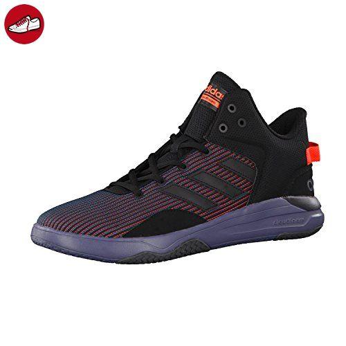 adidas NEO Herren Sneaker CLOUDFOAM REVIVAL MID core black/core black/solar red 49 1/3 - Adidas sneaker (*Partner-Link)
