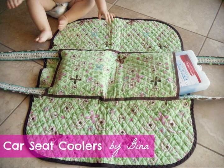 best baby gift idea for those living in hot weather - custom car seat coolers!