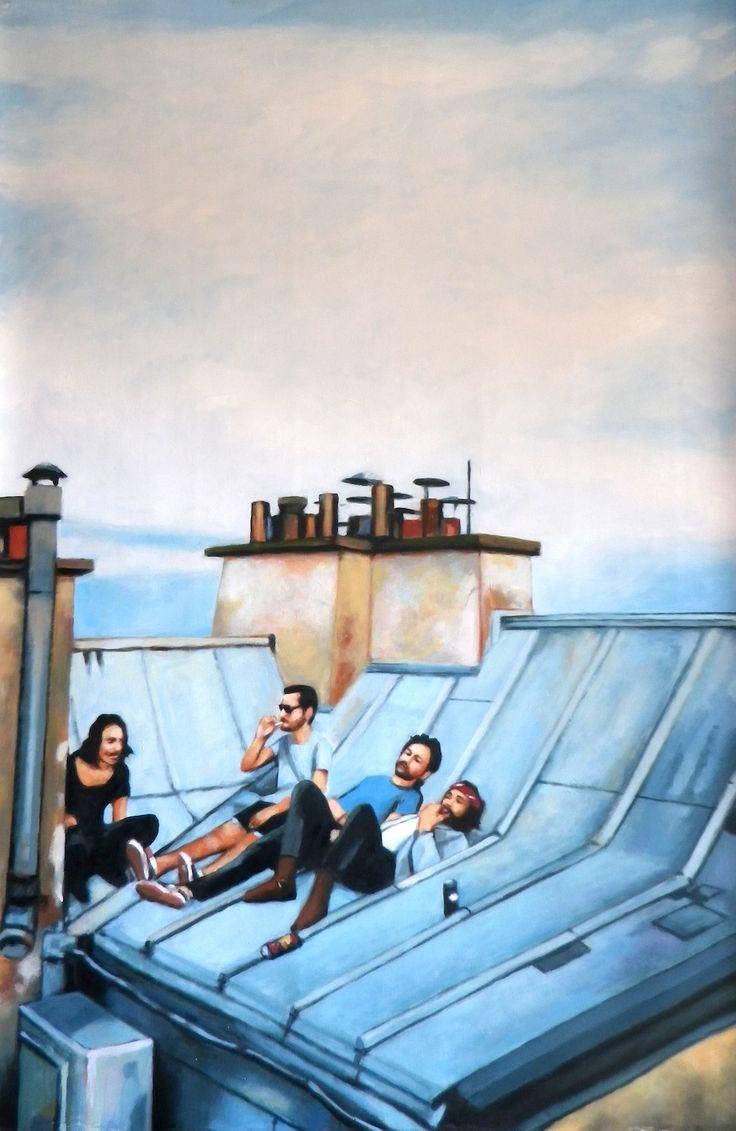 Paris roof 170/110 cm oil on canvas