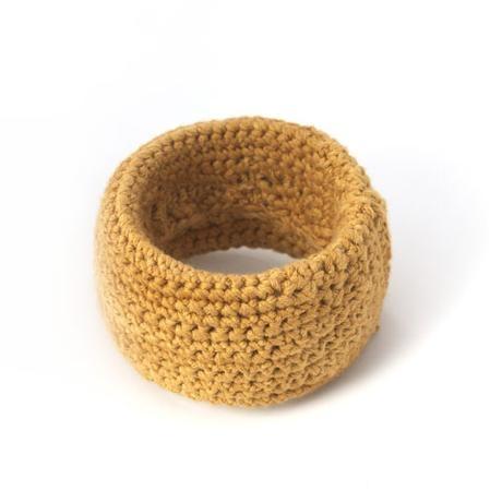 Blossom Handmade Knit Bangle  Brown (KBB)