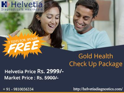 #free   Book #Gold #health checkup #package at amazing #price of just Rs.2999 instead of Rs.5900 for this #festive season at +Helvetia Diagnostics & Healthcare . We are offering 2 Tests free for spouse on this #festive #offer. Book online #appointment now: https://goo.gl/yGEbMo #health #healthcare #wellness #healthissues #healthpackages #womenhealth #healthpackages #southdelhi #greaterkailash1 #GK1 #Delhi #Gurgaon #ncr