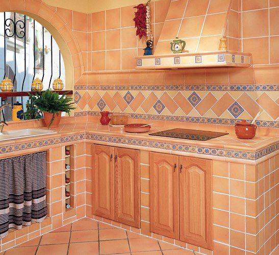 Reformas de cocinas rusticas estilo antiguo rustic - Disenos de cortinas para cocina ...