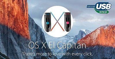 10.11.6 EL CAPITAN REPAIR REINSTALL UPGRADE BOOT USB FLASH DRIVE APPLE OSX MacOS